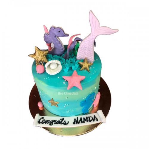 Starfish sugar cake