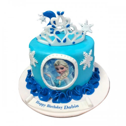 Frozen theme cake 01