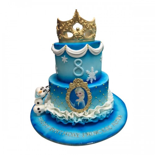 Frozen theme cake 02